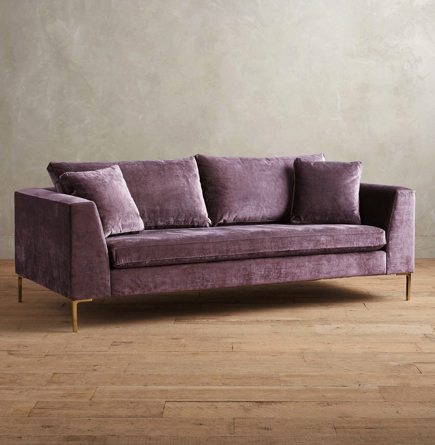 Magnificent Lilac Velvet Sofa Outstanding Anthropologie Edlyn Slub Pabps2019 Chair Design Images Pabps2019Com