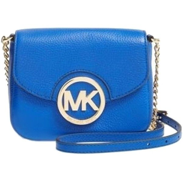 Pre-owned Michael Kors Nwt Michael Fulton Small Leather Electric Tote... ($220) ❤ liked on Polyvore featuring bags, handbags, tote bags, blue, blue purse, michael kors tote bag, blue tote, leather tote bags and genuine leather handbags