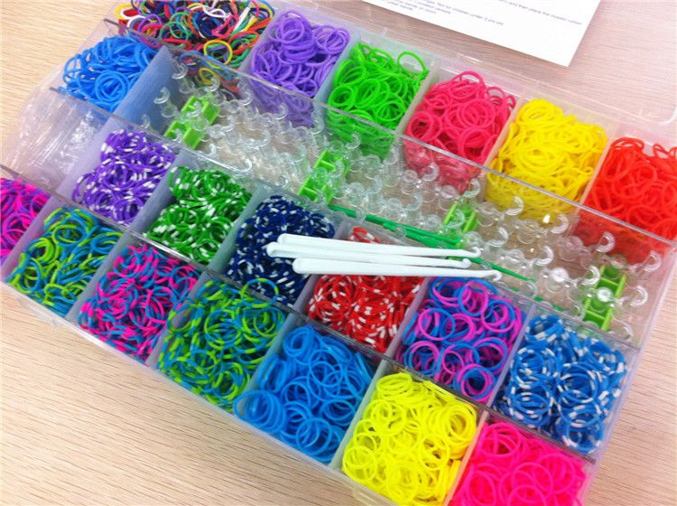 All Colors Diy Cheap Fun Loom Rubber Bands In Storage Box