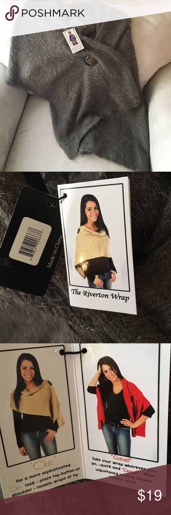 Wrap The Riverton Wrap with two buttons.. New with tags. Noelle Accessories Scarves & Wraps