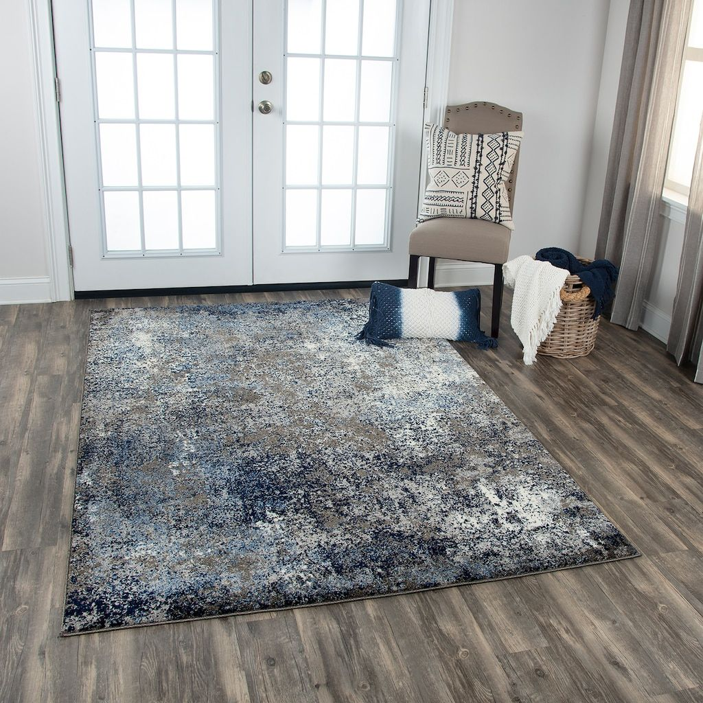 Rizzy Home Brooklyn Abstract Rug Kohls In 2020 Blue Living Room Decor Abstract Rug Rugs In Living Room