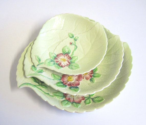 Carlton Ware Hand Painted Australian Design Divided Serving Dish Made in England