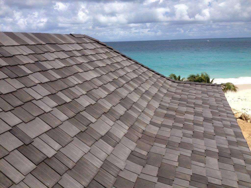 Beach House Use Composite Roof Shingles From Asphalt