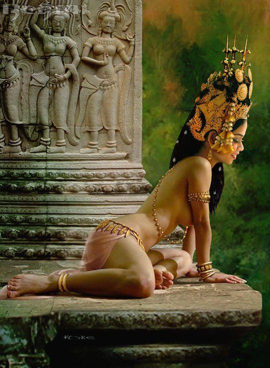 nude Cambodia khmer apsara