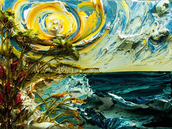 """The Wonderful """"sculpting With Paint"""" Art By Justin Gaffrey"""