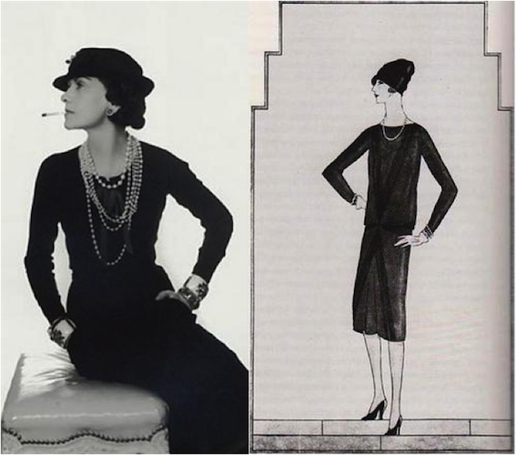 104b7b50cb0 This is one of Coco Chanel s LBD s that inspired Calvin Klein s dress. The  dress is not form fitting and is very simple yet elegant