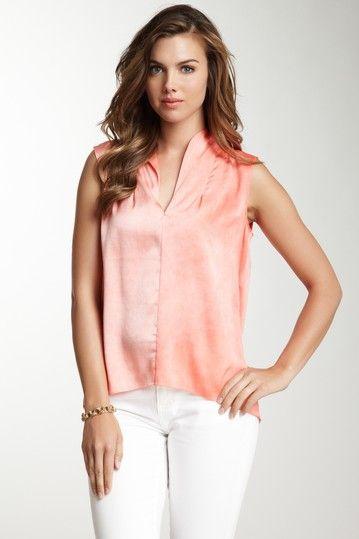 e2da0a7ea4face Elie Tahari silk blend blouse