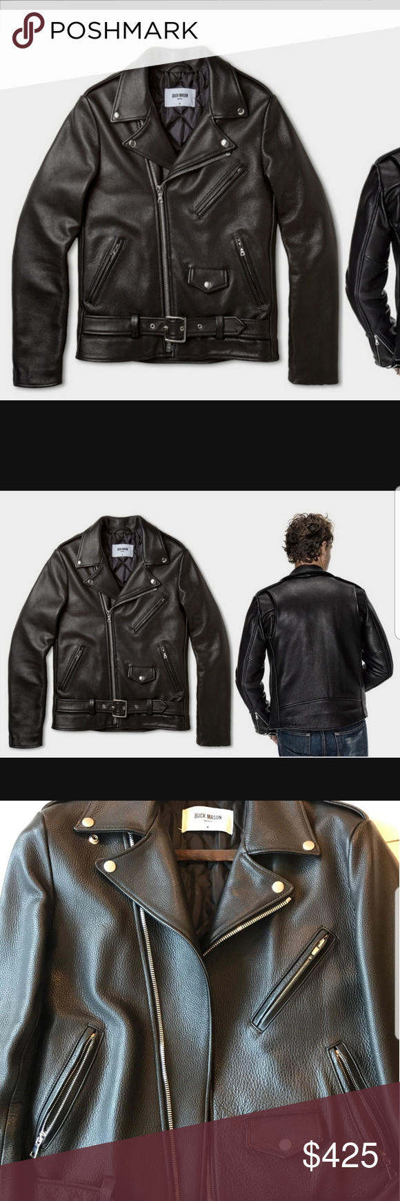 Buck Mason Leather Motorcycle Jacket in 2020 (With images