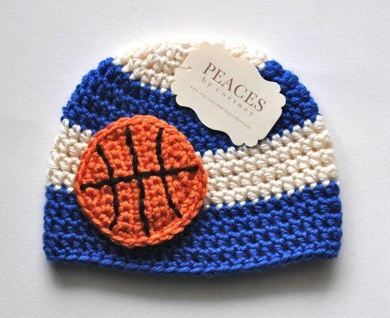 Baby Basketball Hats - Royal Blue & White Basketball Inspired Beanie ...
