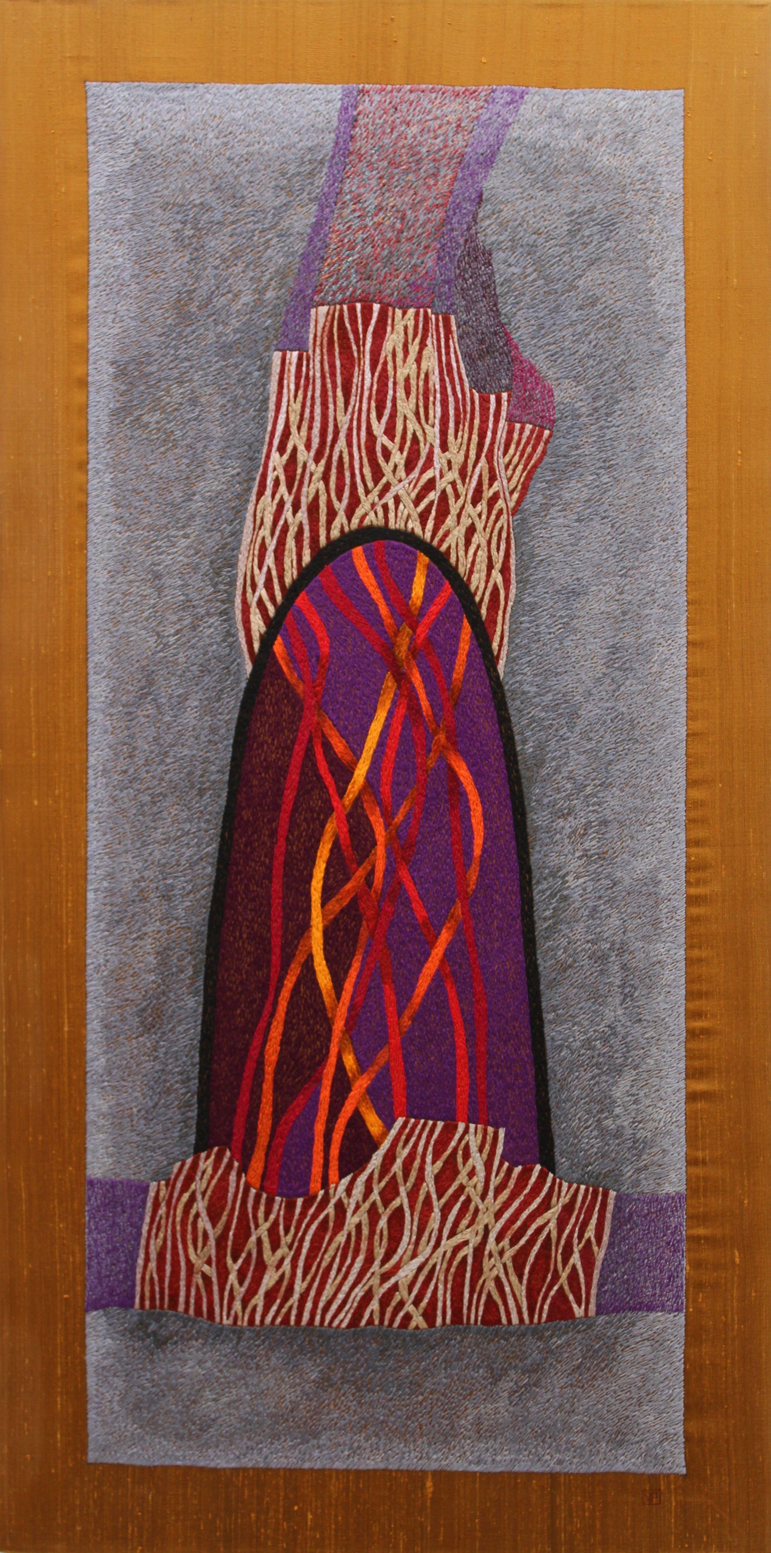 Victoria Potrovitza © 2010 Hand embroidery.