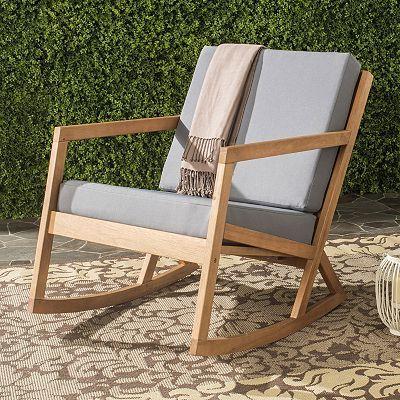 Safavieh Vernon Patio Rocking Chair Patio Rocking Chairs Rocking Chair Outdoor Furniture
