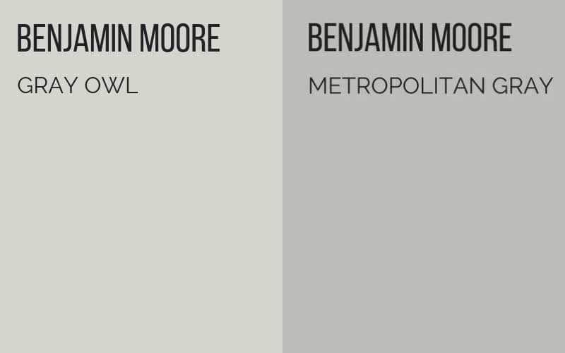 Benjamin Moore Gray Owl Vs Benjamin Moore Metropolitan Gray Benjamin Moore Grey Owl Benjamin Moore Gray Gray Owl