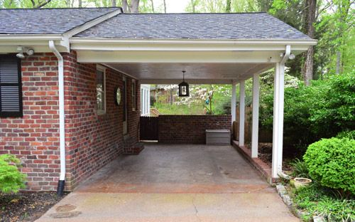 Planning and prepping a carport pergola pergolas canopy for Carport attached to side of garage