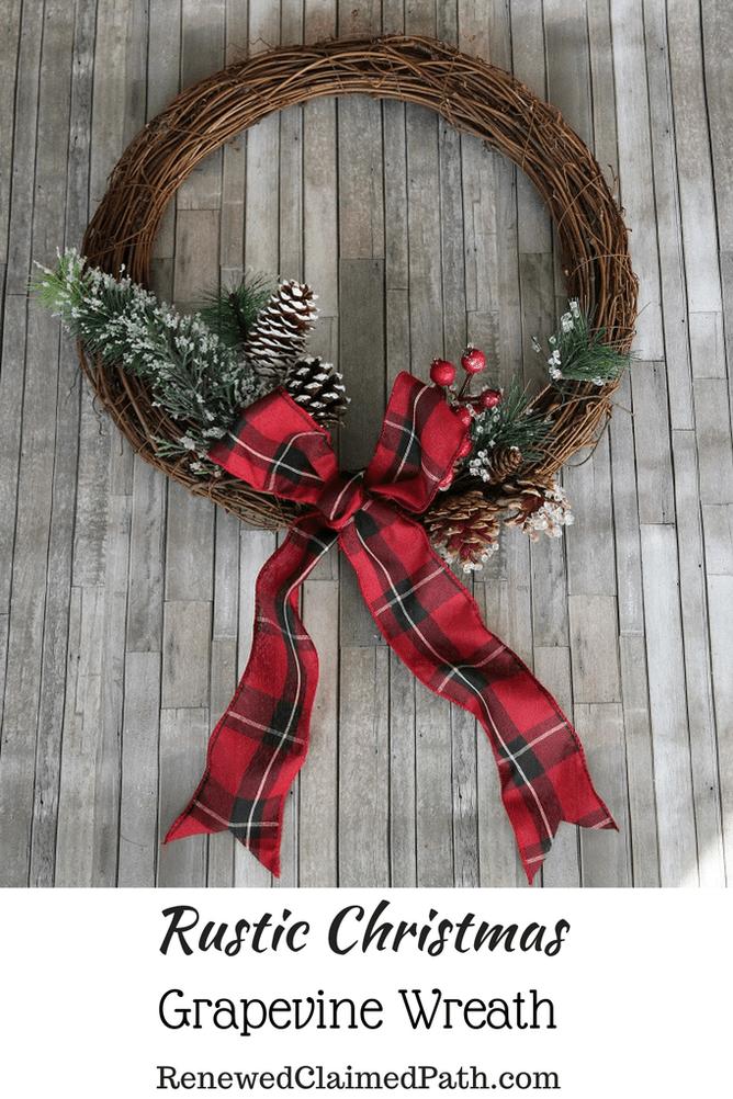 40+ Grapevine christmas wreath ideas inspirations