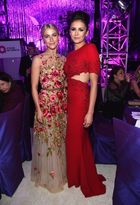 Nina Dobrev and Julianne Hough at event of The Oscars (2015)