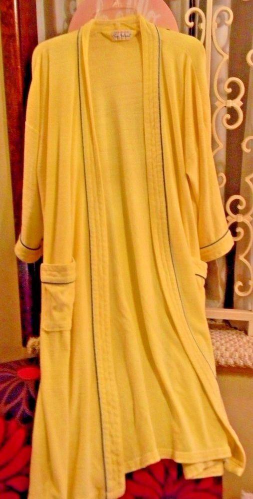 bc24269852bc Fantabulous Vintage Men s Robe Terry Cloth Loungewear by Sea Island Yellow  USA  SeaIsland  Robes