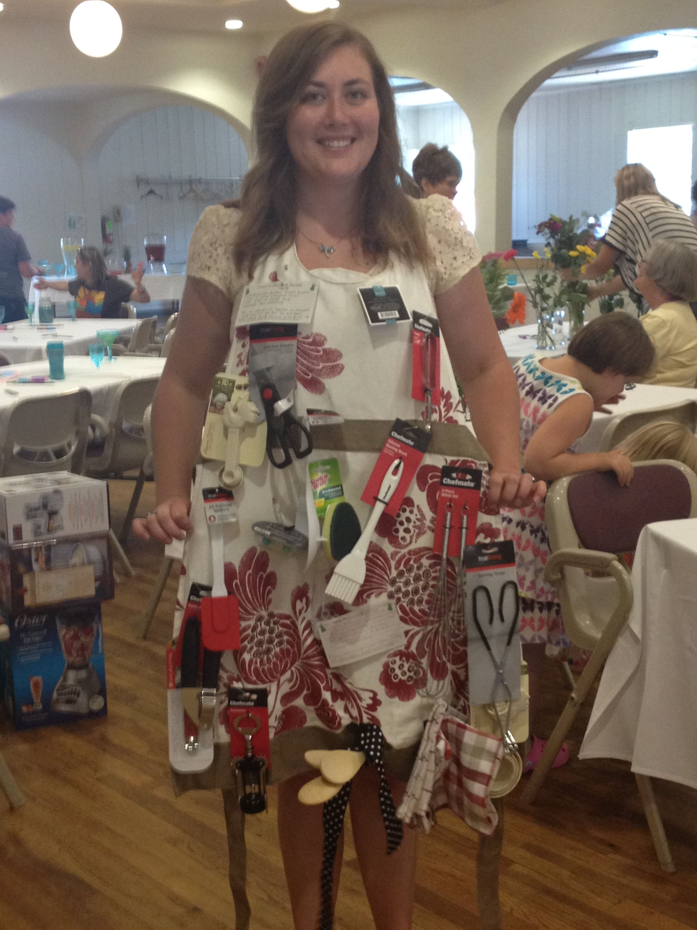 Wedding shower gift Apron with all the