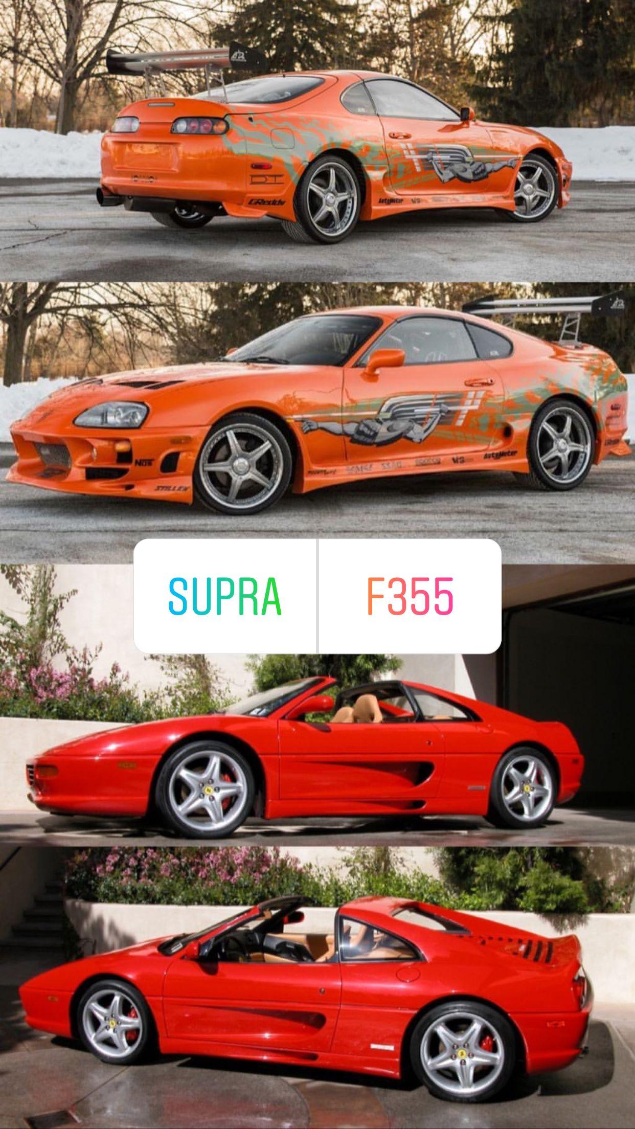 Supra Or F355 Ferrari Custom Muscle Cars Cool Cars