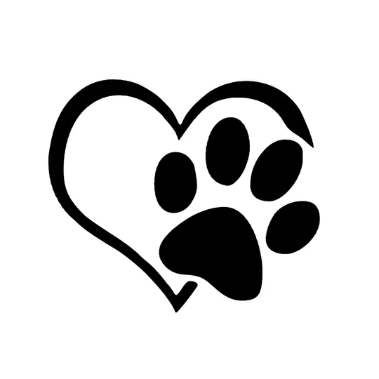 Paw On My Heart Multiple Colors Canine Superstore Body Stickers Print Stickers Car Decals Vinyl