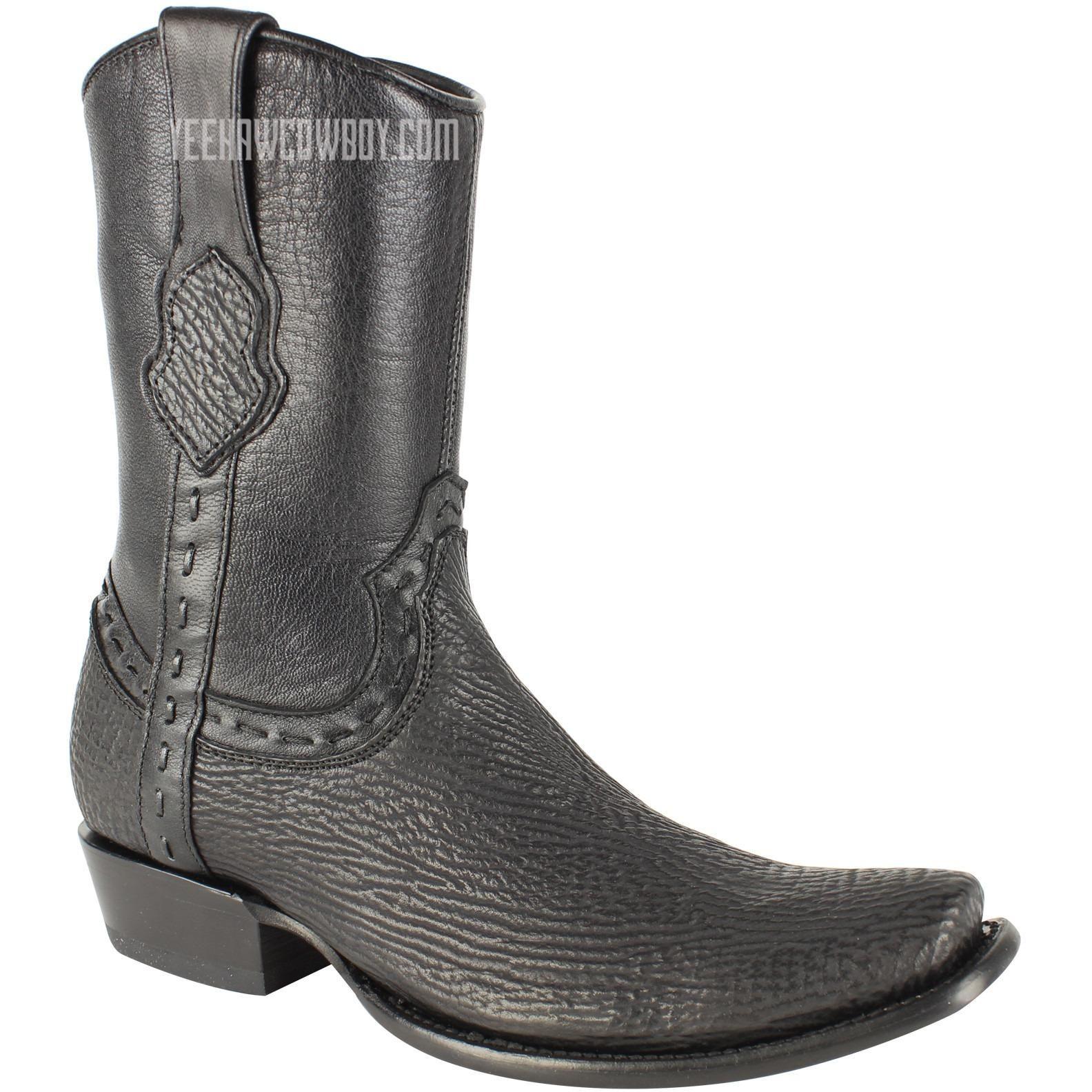 c9e7ae2495c Men's King Exotic Sharkskin Boots With Inside Zipper Dubai Toe ...