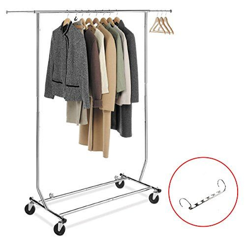 House Day Clothing Rack Collapsible Commercial Grade Rolling