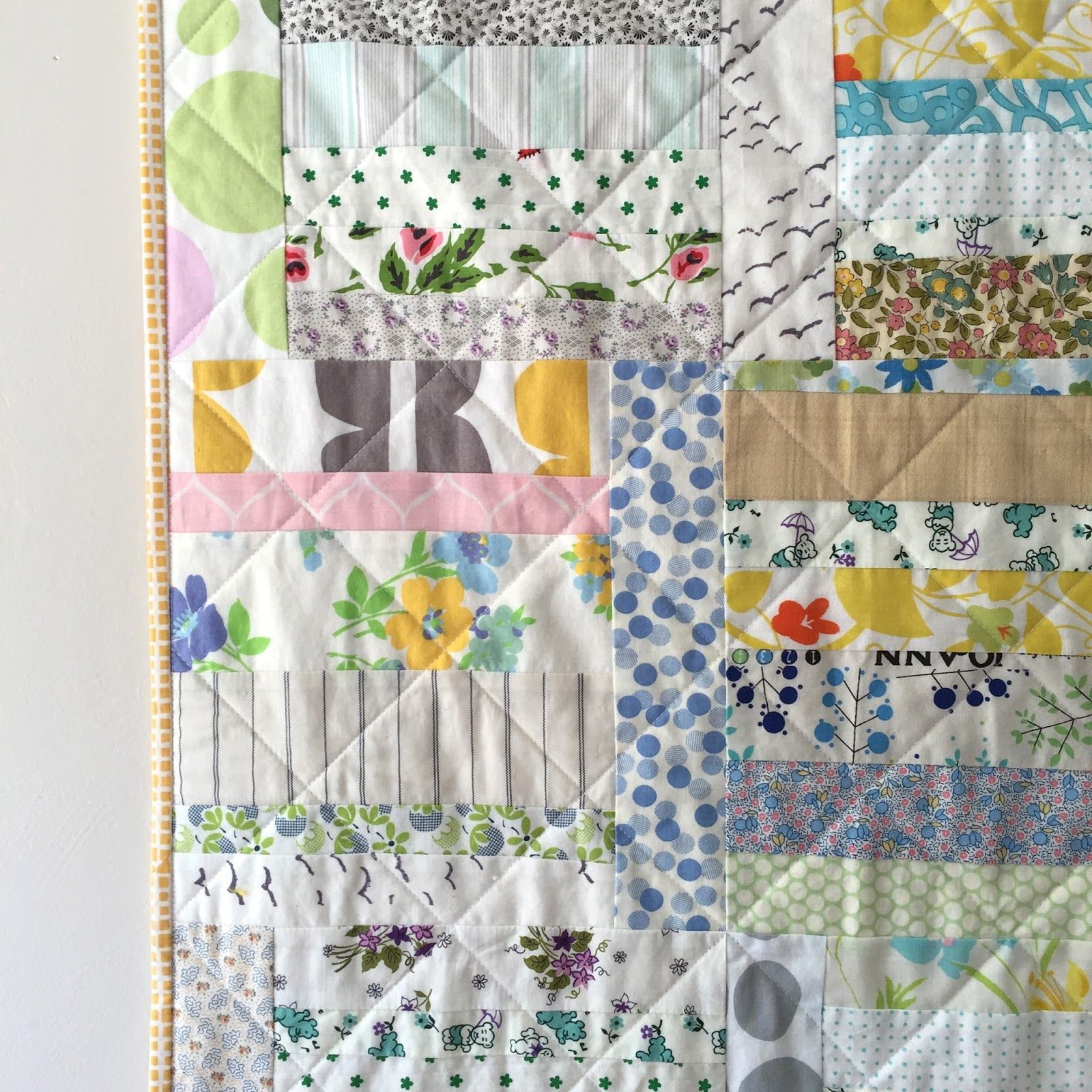 salty oat: quilt studio and fabric shop: sunday morning low-volume throw quilt