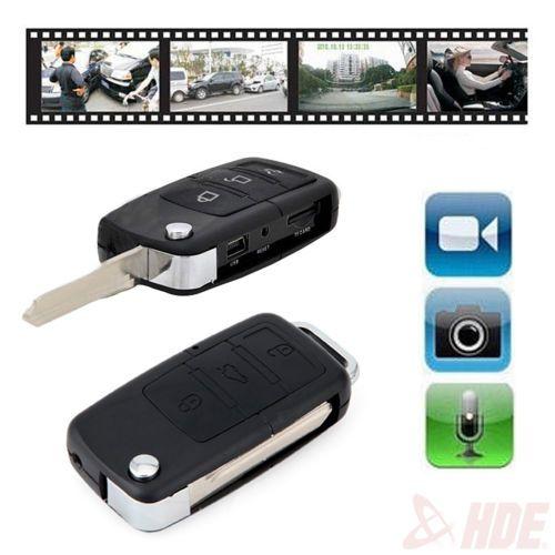 CAR KEY REMOTE HIDDEN SPY CAMERA PINHOLE DVR DIGITAL VIDEO RECORDER SECURITY