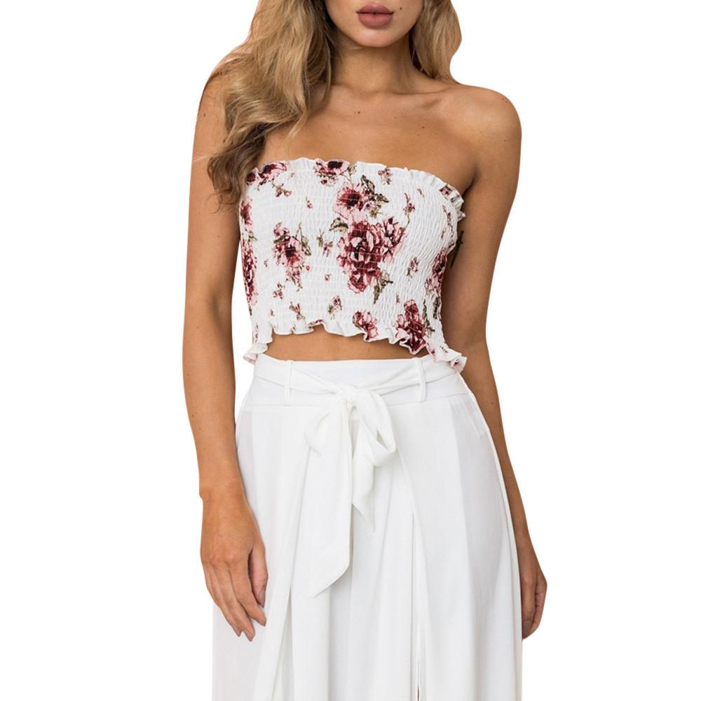 e5f5aa70c5a7d Floral Print Tube Top (in White