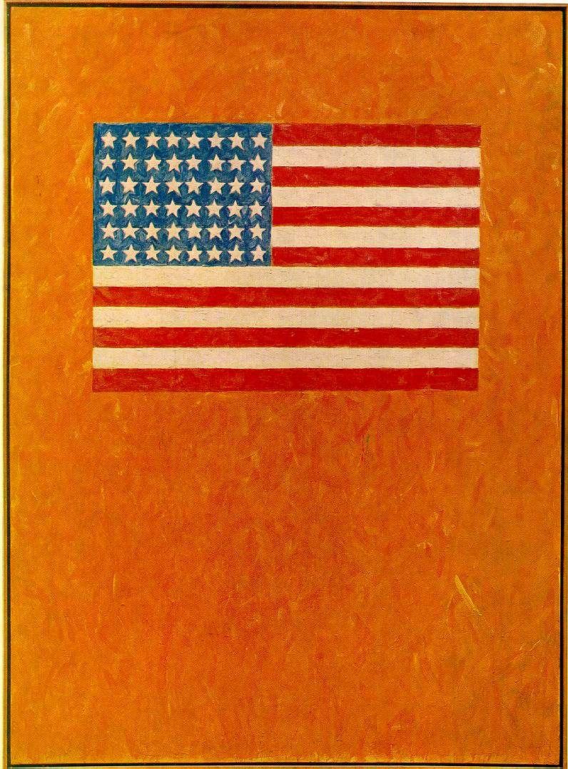 Flag On Orange Field Jasper Johns 1957 Pop Art Art Conceptuel Art