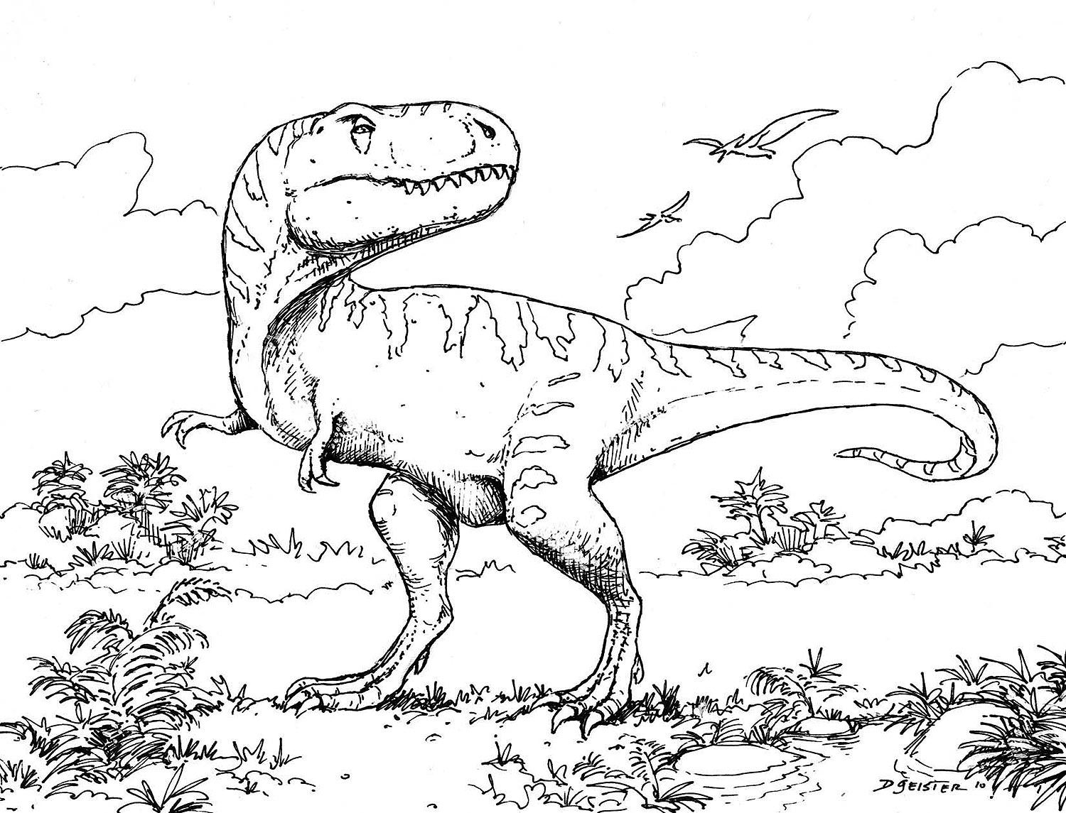 Free Printable Dinosaur Coloring Pages For Kids | Coloring books ...