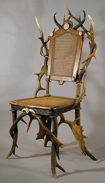 A Decorative Antler Chair Ca 1890 Antler Furniture In