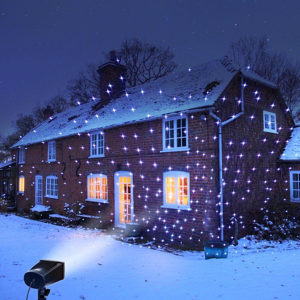 Full Spectrum Motion Star Effect 7 Color White Laser Christmas And Decorative Lights White Laser Christmas Lights Laser Lights Outdoor Holiday Decor