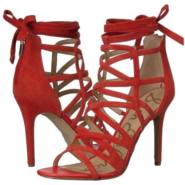 6fe6a230789dc3 Sam Edelman Alba (Havana Red Kid Suede Leather) Women s 1-2 inch heel...  ( 91) ❤ liked on Polyvore featuring shoes
