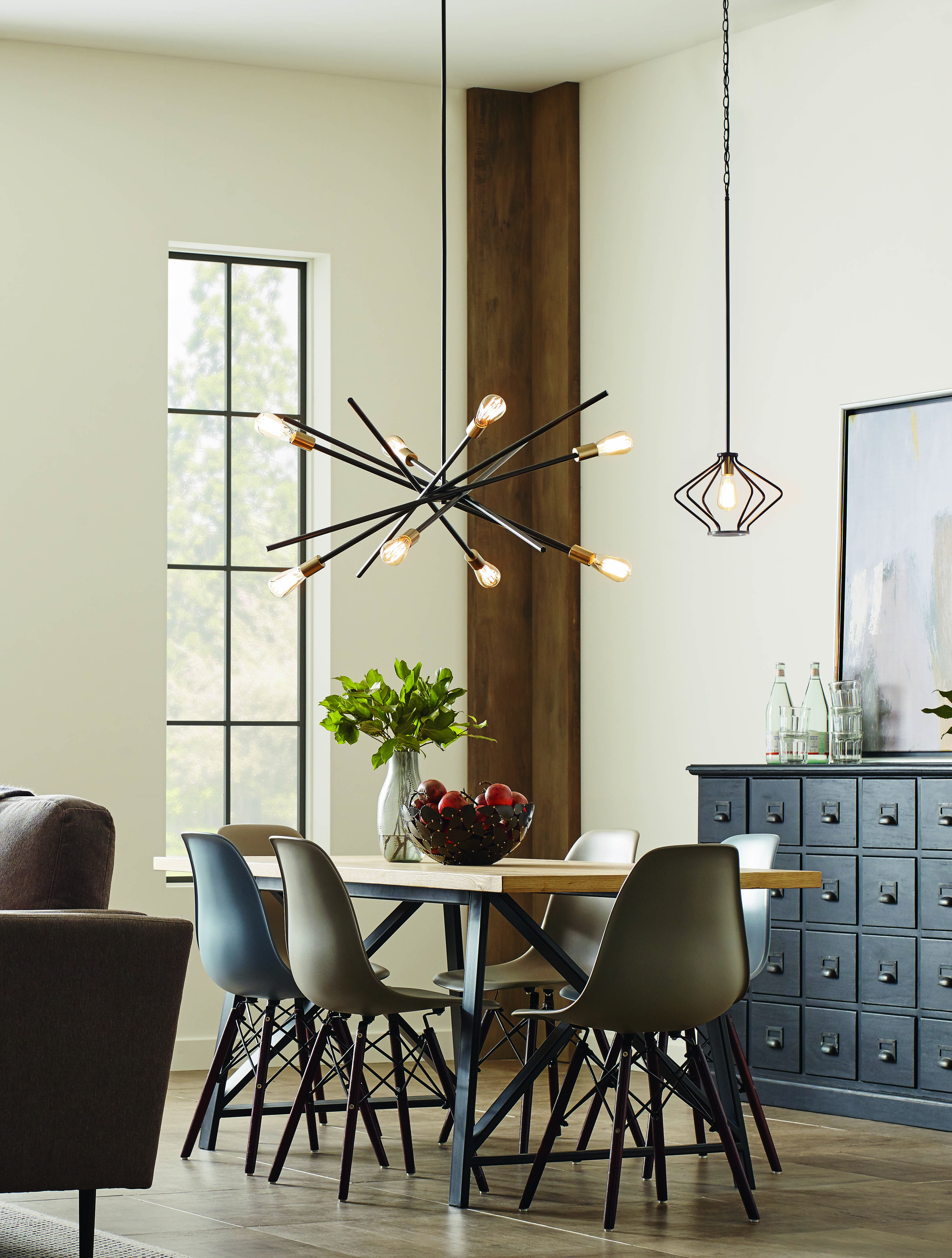 Mix And Match With The Astra Chandelier And The Hangar Pendant An Iconic Fixture Dining Room Chandelier Modern