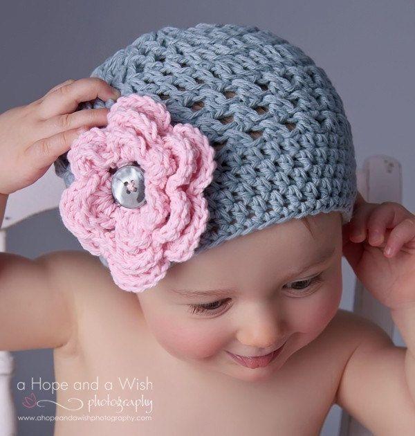 Cappello bambino bambina uncinetto cappello Toddler di Karenisa, $20,00