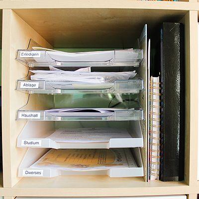 mein ordner und ablagesystem im arbeitszimmer ordnung pinterest ablage ablagesystem und. Black Bedroom Furniture Sets. Home Design Ideas