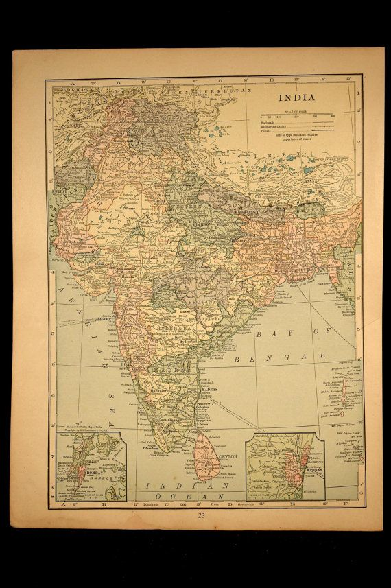 India map india vintage original 1936 india originals and large map india vintage original 1930 gumiabroncs Images