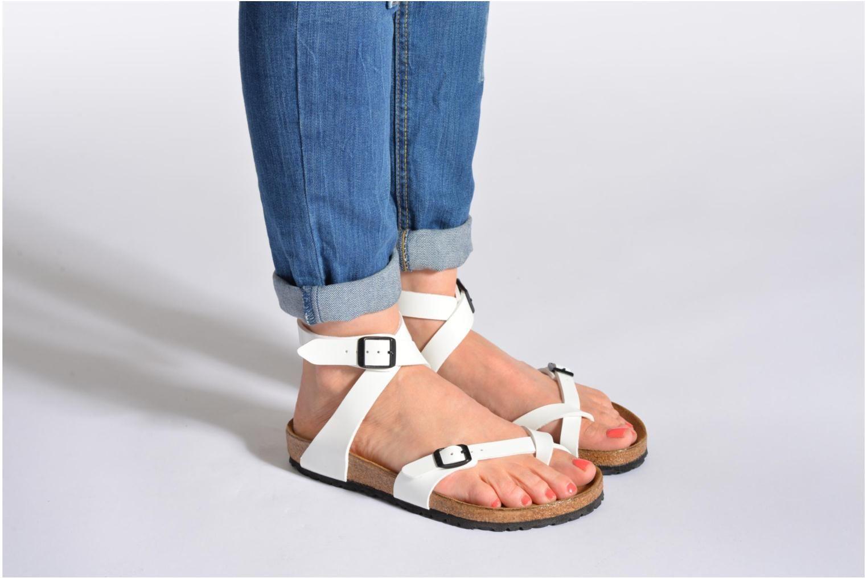 2f56a180063 Birkenstock Yara Flor W Sandals in White at Sarenza.co.uk (218023 ...
