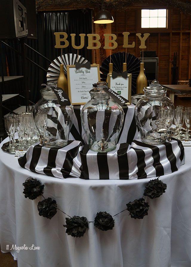 Black And White Bowtie Ball Black Gold Party Elegant Birthday