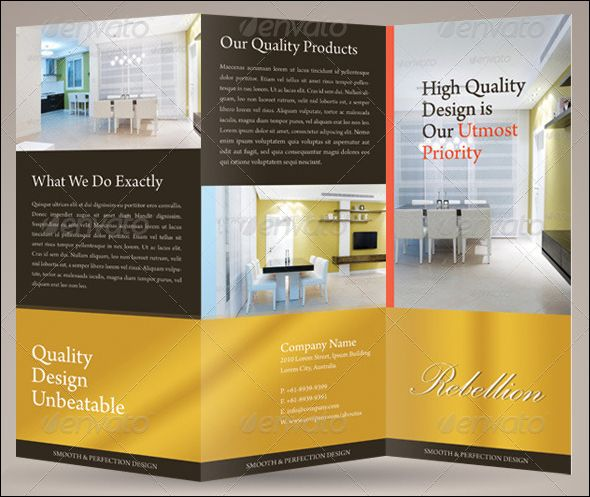 Free Photo Realistic Corporate Brochure Template Designs