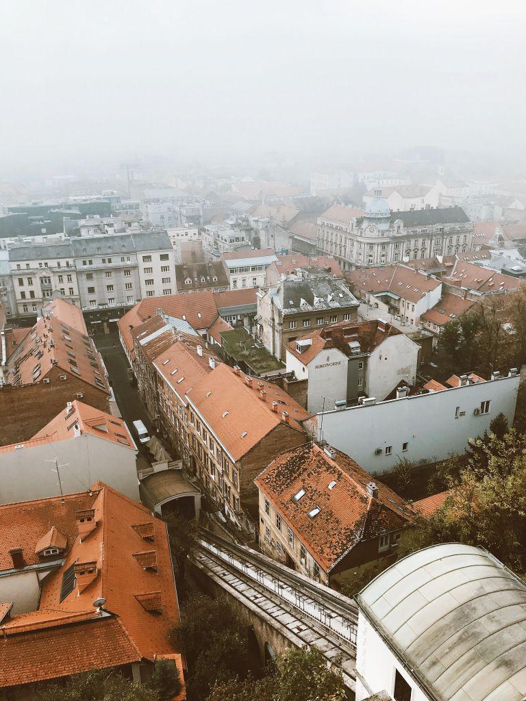 Foggy Morning In Upper Town Zagreb Croatia In 2020 Coastal Cities Zagreb Croatia