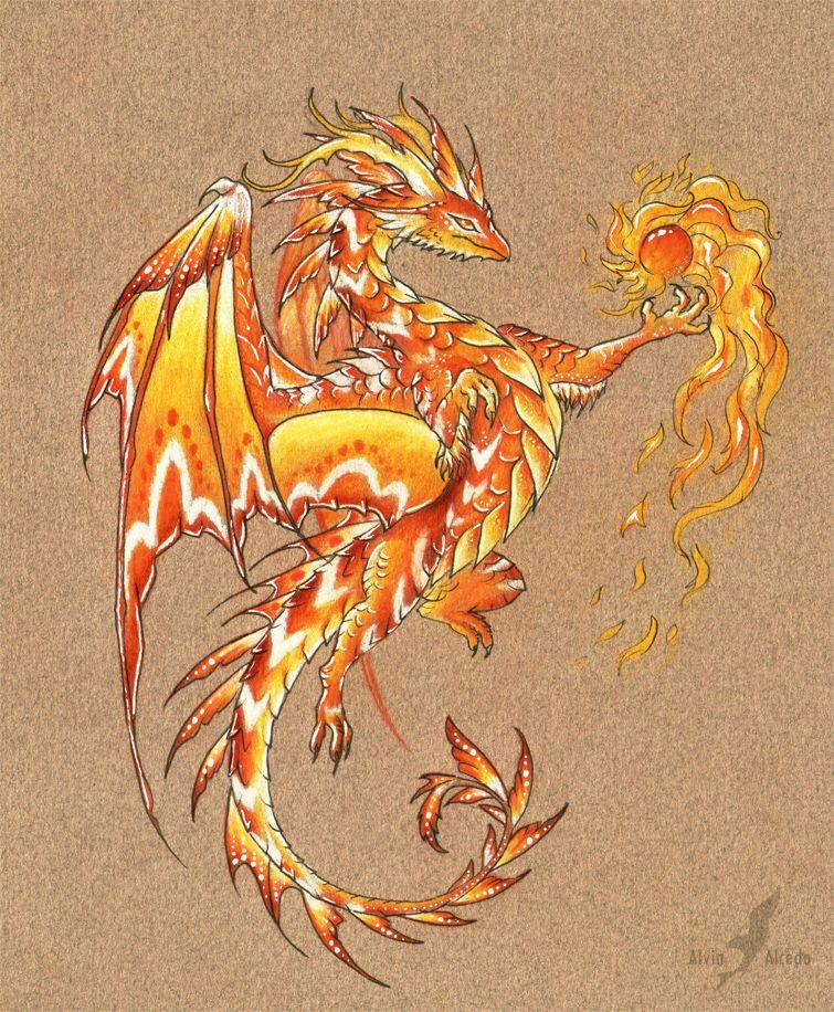 Огненный дракон картинки красивые