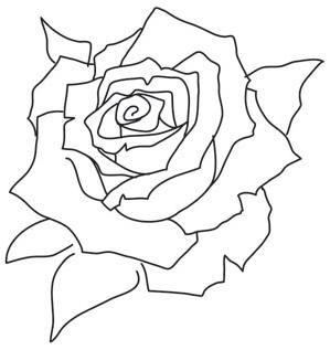 Painted Rose Bloom Image Stensiller Cizim Elde Nakis