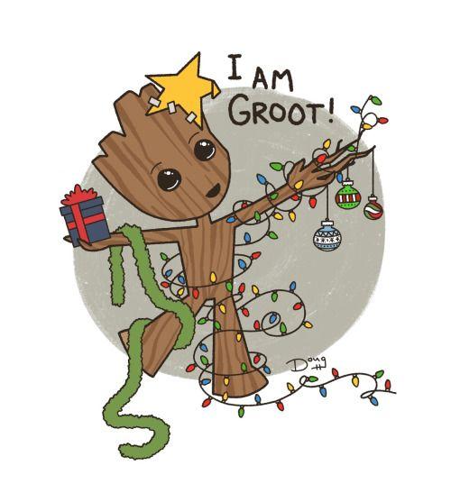 So Freakin Cute Christmas Groot Tumblr Cute Christmas Wallpaper Nerd Christmas Geek Christmas