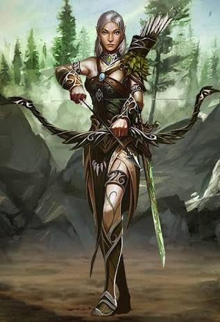 For Fantasy female archer