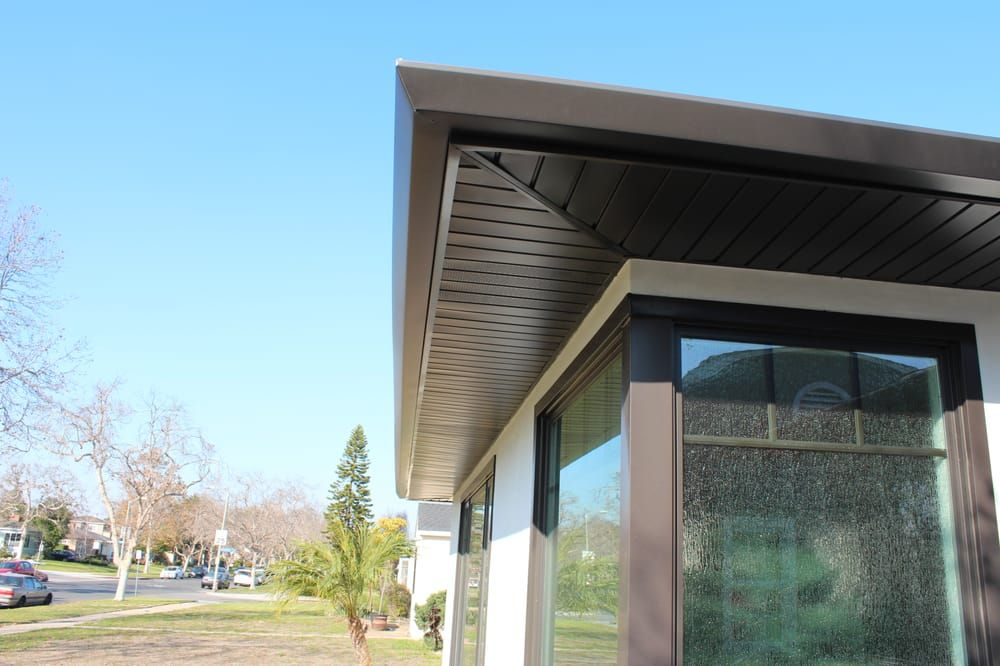 Photo Of A Plus Gutter Systems Los Angeles Ca United States Low Maintenance Home In Long Beach Soffits Fascia And Wi Outdoor Decor Exterior Rain Gutters