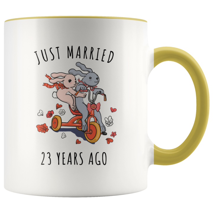 Just Married 23 Years Ago 23rd Wedding Anniversary Gift Accent Mug