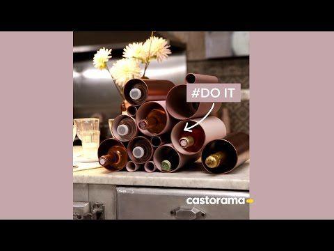 Diy Fabriquez Un Porte Bouteilles En Pvc Castorama Youtube