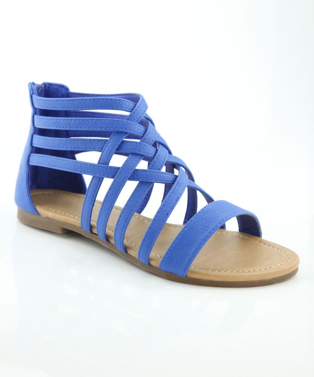 Bella Marie Blue Maggie Gladiator Sandal Sandals