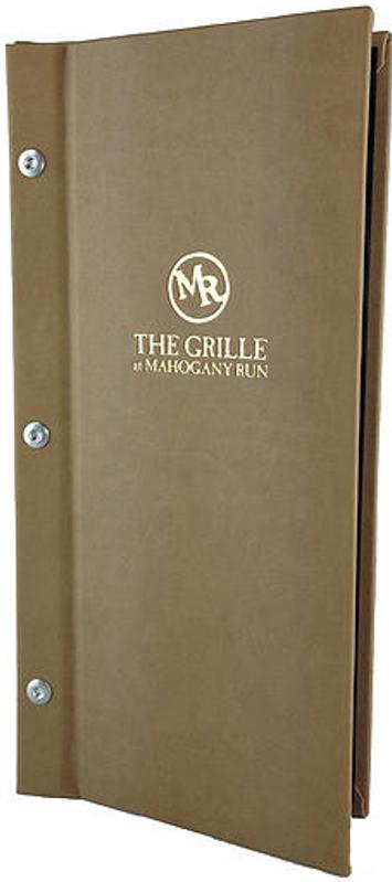 custom menu cover tuscon designer series by menu designs from